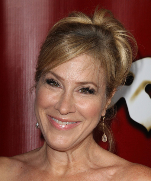 Lisa Ann Walter Long Straight Formal   Updo Hairstyle   - Dark Blonde Hair Color
