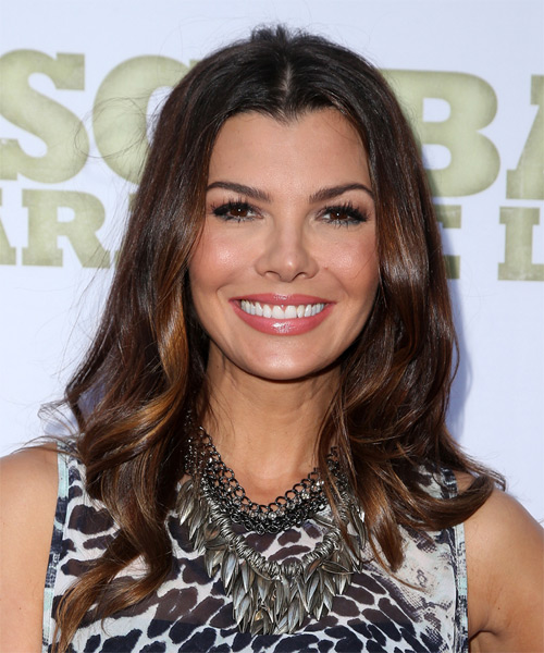 Ali Landry Long Wavy Casual   Hairstyle   - Dark Brunette