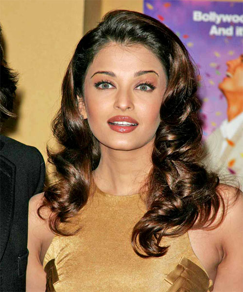 Aishwarya Rai Long Curly Formal   Hairstyle