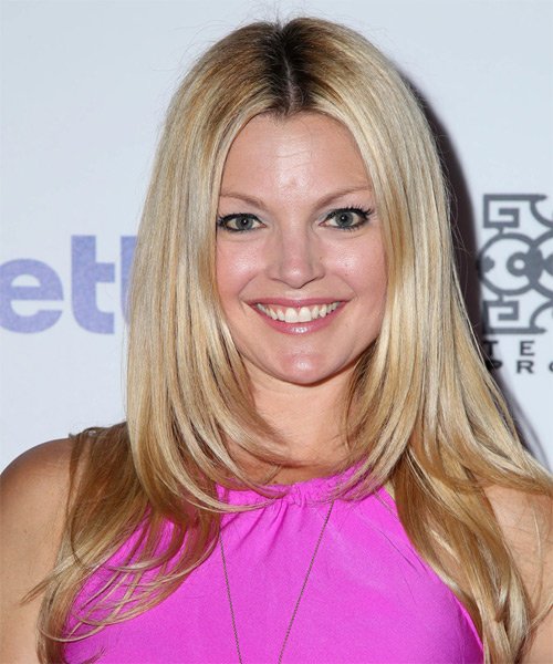 Clare Kramer Long Straight Formal   Hairstyle   - Light Blonde