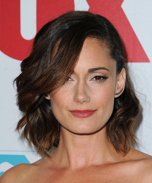 Natalie Brown Medium Wavy Formal   Hairstyle   - Dark Brunette