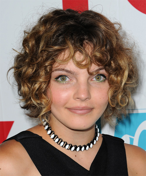 Camren Bicondova Short Curly Casual   Hairstyle   - Dark Blonde