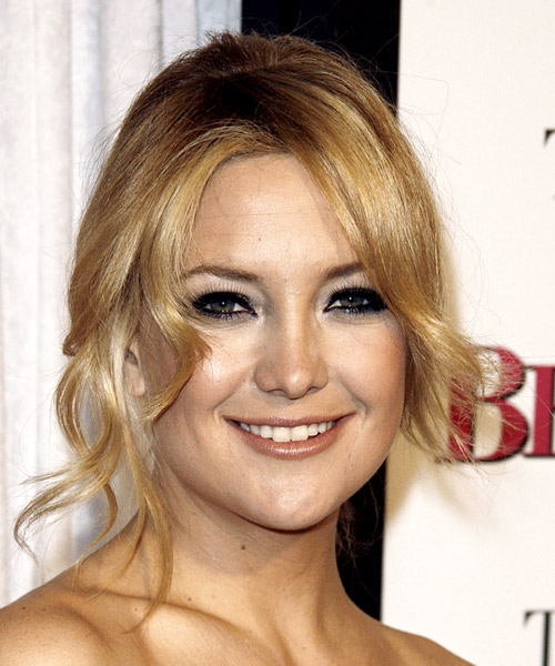 Kate Hudson  Medium Curly Formal   Updo Hairstyle