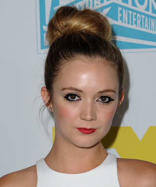 Billie Lourd Long Straight Formal Wedding Updo Hairstyle