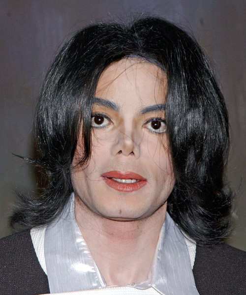 Michael Jackson Medium Wavy Casual Hairstyle Black Hair