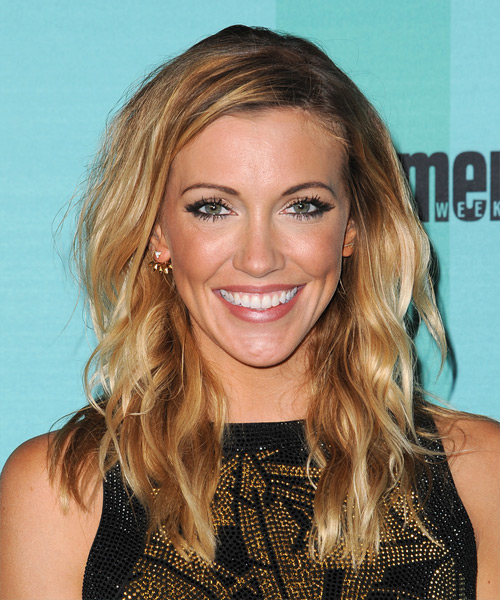 Katie Cassidy Long Wavy Casual   Hairstyle   - Dark Blonde (Golden)