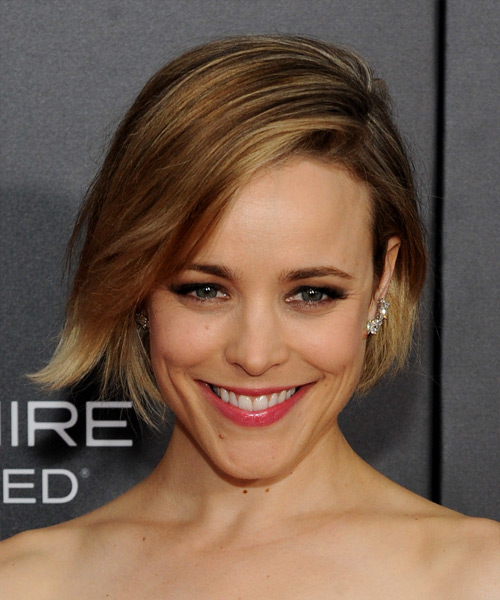 Rachel McAdams Short Straight Formal   Hairstyle with Side Swept Bangs  - Dark Blonde