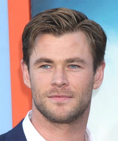 Chris Hemsworth Short Straight Formal Hairstyle Medium