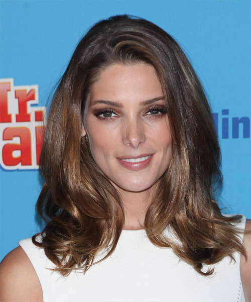 Ashley Greene Medium Straight Casual    Hairstyle   - Medium Brunette Hair Color
