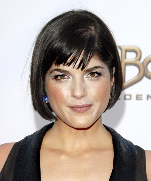 Selma Blair Short Straight Formal   Hairstyle