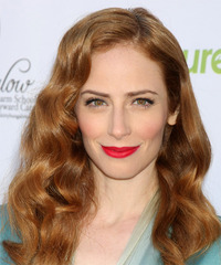 Jaime Ray Newman Long Wavy Formal    Hairstyle   - Light Red Hair Color