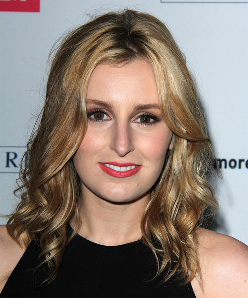Laura Carmichael Medium Wavy Casual   Hairstyle   - Medium Blonde