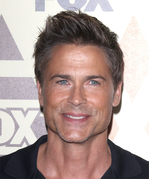 Rob Lowe Short Straight Casual   Hairstyle   - Medium Brunette