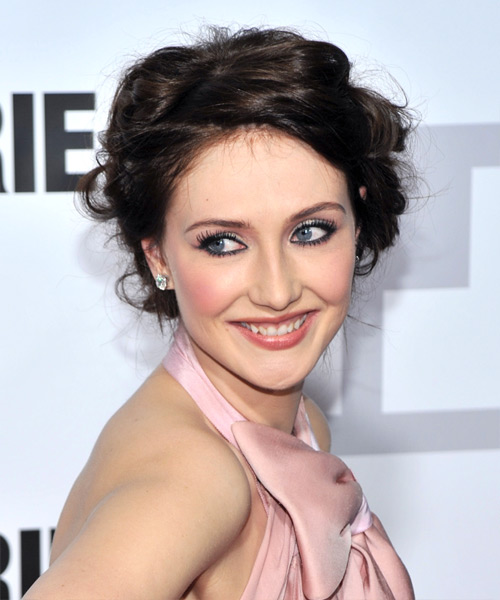 Carice van Houten  Long Curly Formal   Updo Hairstyle