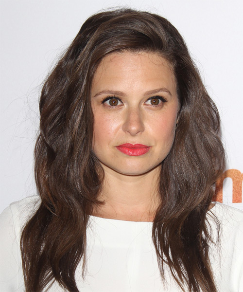 Katie Lowes Long Straight Casual    Hairstyle   - Medium Chocolate Brunette Hair Color