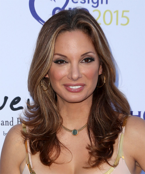 Alex Meneses Long Straight Formal   Hairstyle   - Medium Brunette