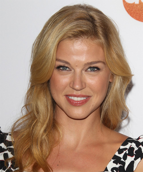 Adrianne Palicki Long Wavy Casual Hairstyle Honey Blonde