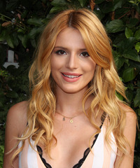 Bella Thorne Long Wavy Casual    Hairstyle   - Light Copper Red Hair Color