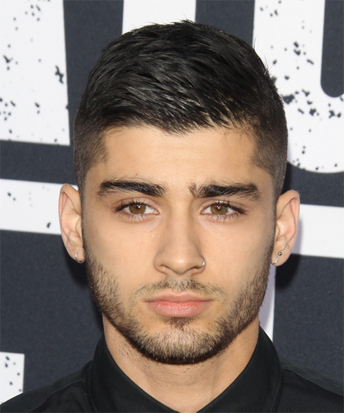 Zayn Malik Short Straight Casual   Hairstyle   - Black