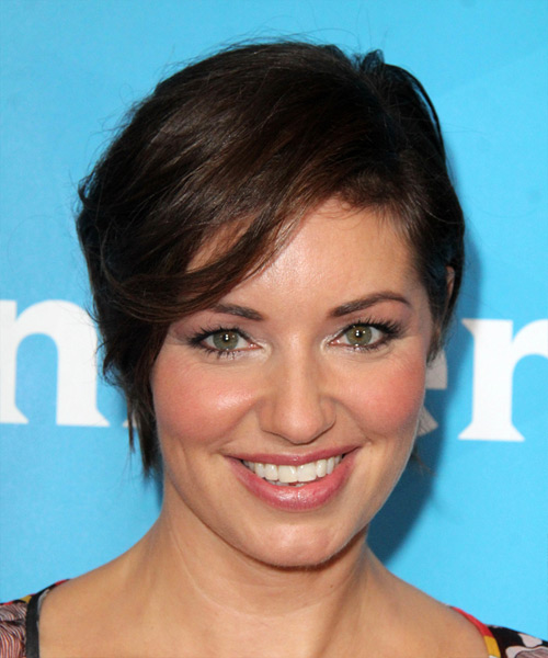 Bianca Kajlich Short Straight Casual Hairstyle Dark Brunette