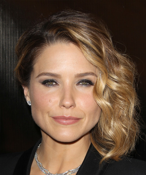Sophia Bush Medium Wavy Formal    Hairstyle   - Dark Blonde Hair Color