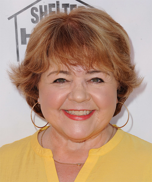 Patrika Darbo Short Straight Casual   Hairstyle with Layered Bangs  - Medium Red (Ginger)