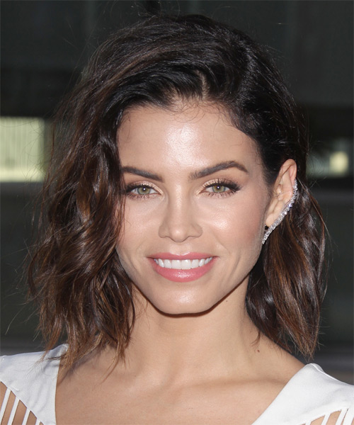 Jenna Dewan Medium Wavy Casual    Hairstyle   - Dark Brunette Hair Color