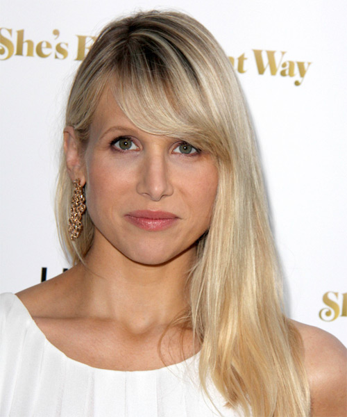 Lucy Punch Long Straight Casual Hairstyle With Side Swept