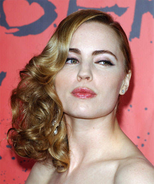 Melissa George Half Up Long Curly Formal  Half Up Hairstyle
