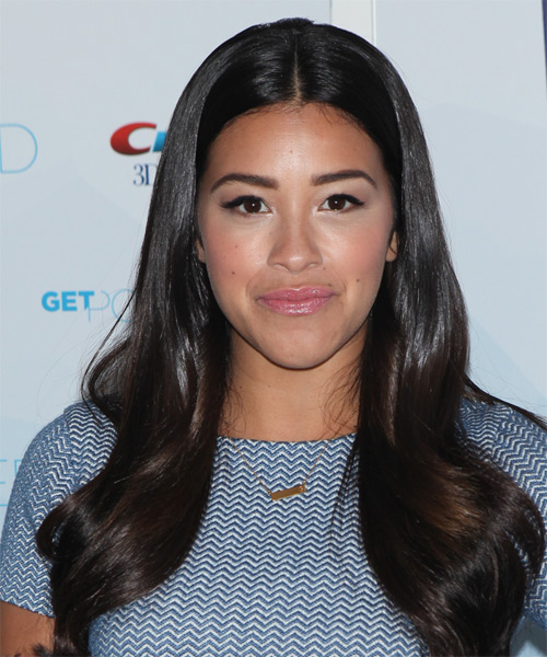 Gina Rodriguez Long Straight Formal    Hairstyle   - Dark Brunette Hair Color