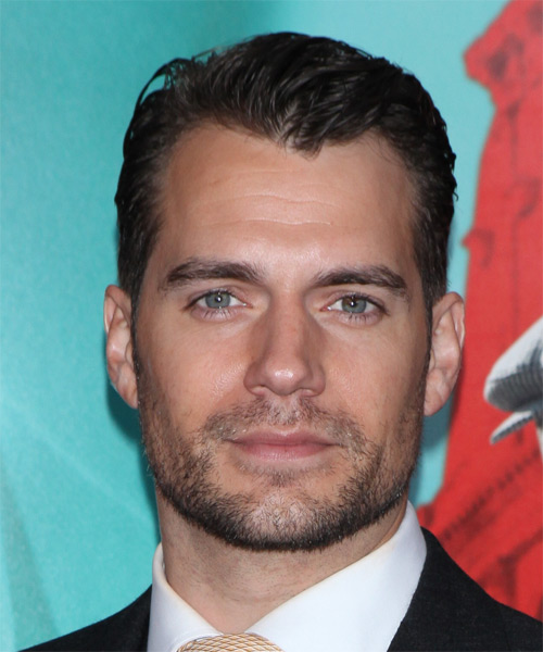 Henry Cavill Short Straight Formal   Hairstyle   - Dark Brunette