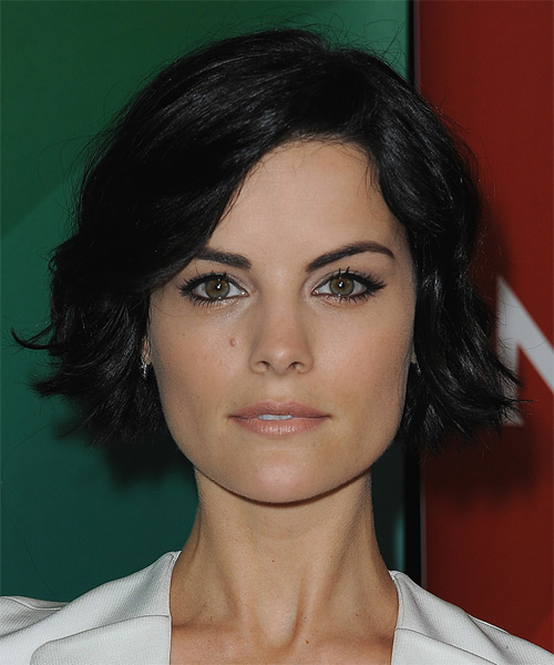 Jaimie Alexander Medium Wavy Casual   Hairstyle   - Black