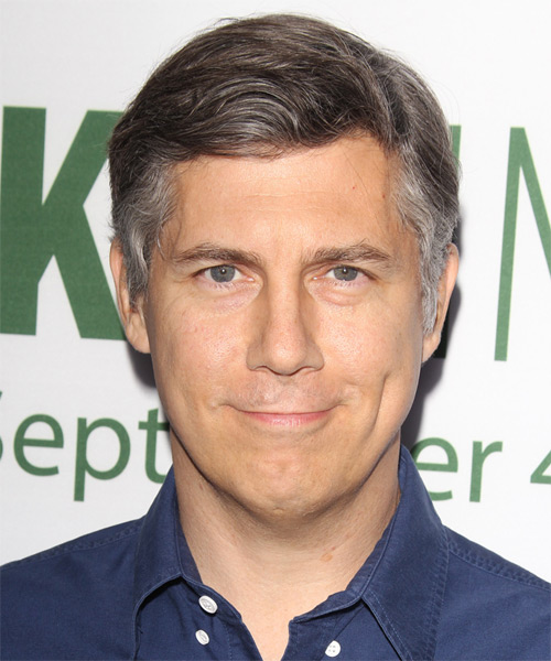 Chris Parnell Short Straight Casual   Hairstyle   - Medium Grey