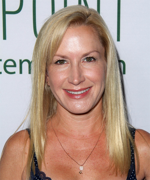 Angela Kinsey Long Straight Casual   Hairstyle   - Medium Blonde (Golden)