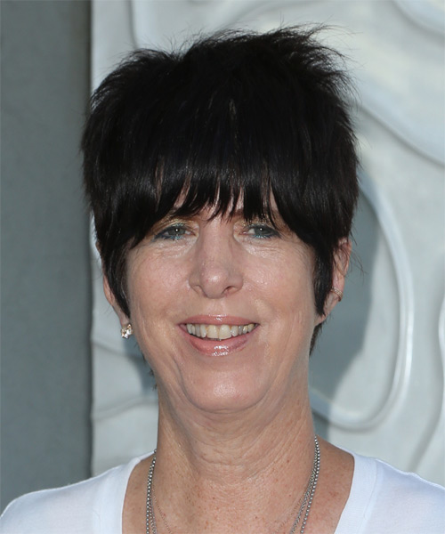 Diane Warren Short Straight Casual   Hairstyle