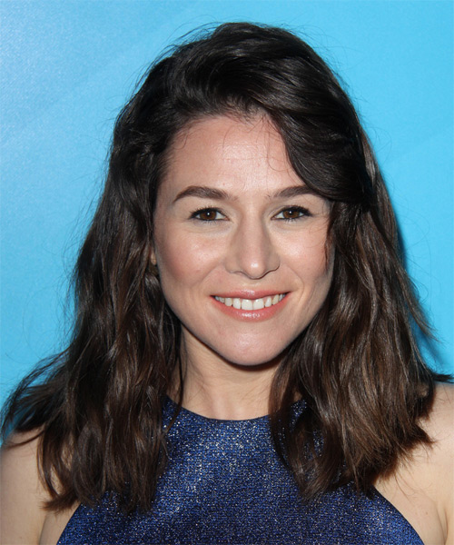 Yael Stone Long Wavy Casual   Hairstyle   - Dark Brunette