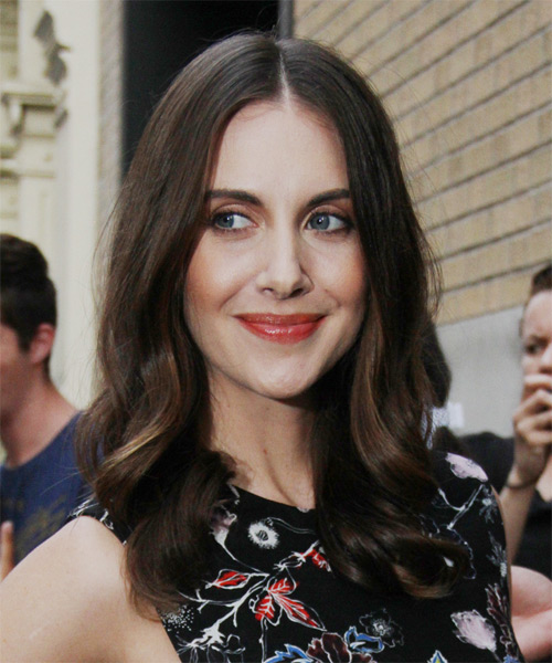 Alison Brie Long Wavy Formal   Hairstyle   - Dark Brunette