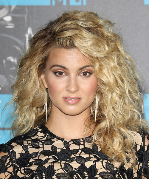 Tori Kelly Long Curly Casual    Hairstyle   -  Blonde Hair Color