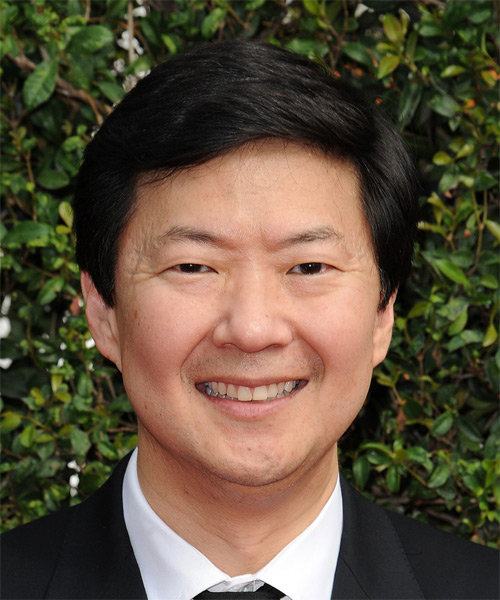 Ken Jeong Short Straight Formal   Hairstyle   - Black