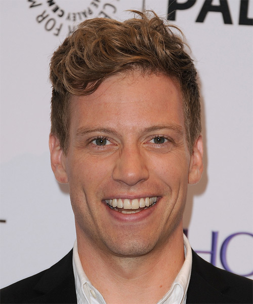 Barrett Foa Short Wavy Casual   Hairstyle   - Light Brunette (Auburn)