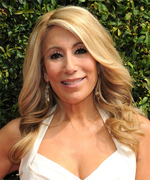 Lori Greiner Long Wavy Formal Hairstyle Honey Blonde