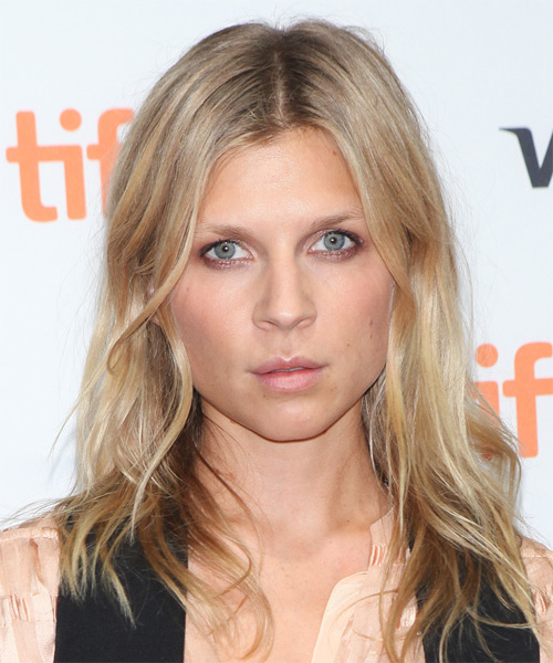 Clemence Poesy Long Straight Casual   Hairstyle   - Medium Blonde