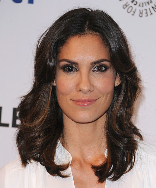 Daniela Ruah Long Straight Casual    Hairstyle   - Dark Brunette Hair Color