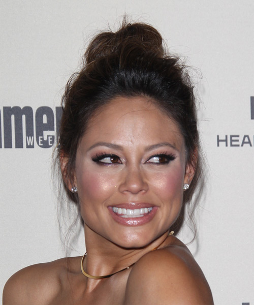 Vanessa Lachey Long Straight Casual Updo