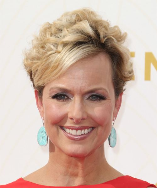 Melora Hardin Short Curly Formal Hairstyle Medium Blonde
