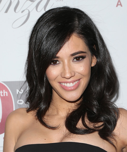 Edy Ganem Long Wavy Formal   Hairstyle with Side Swept Bangs
