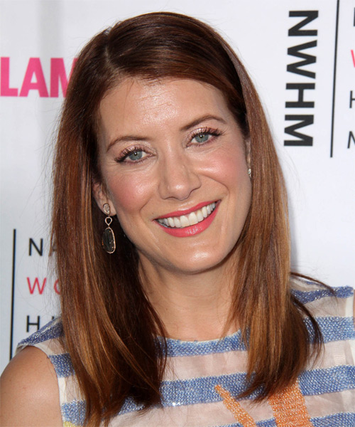 Kate Walsh Long Straight Casual   Hairstyle   - Medium Red