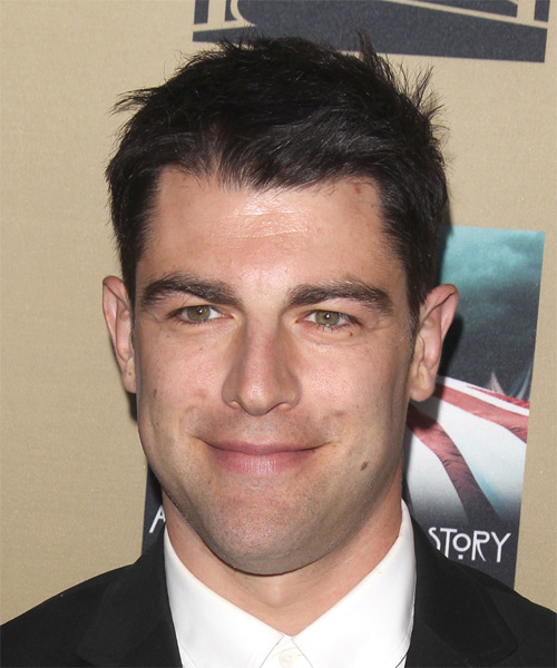 Max Greenfield Short Straight Casual   Hairstyle   - Black