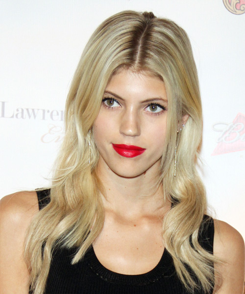 Devon Windsor Long Wavy Casual    Hairstyle   - Light Blonde Hair Color