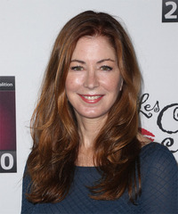 Dana Delaney Long Straight Casual    Hairstyle   -  Auburn Red Hair Color